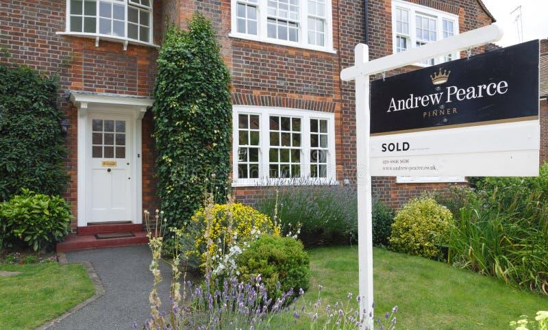 Londyński pośrednik w handlu nieruchomościami obrazy stock