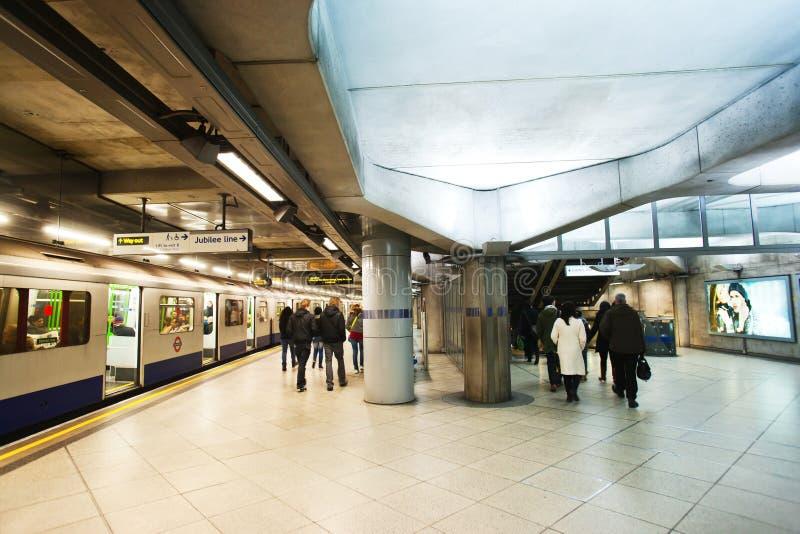 Londyński podziemny dworzec zdjęcia royalty free