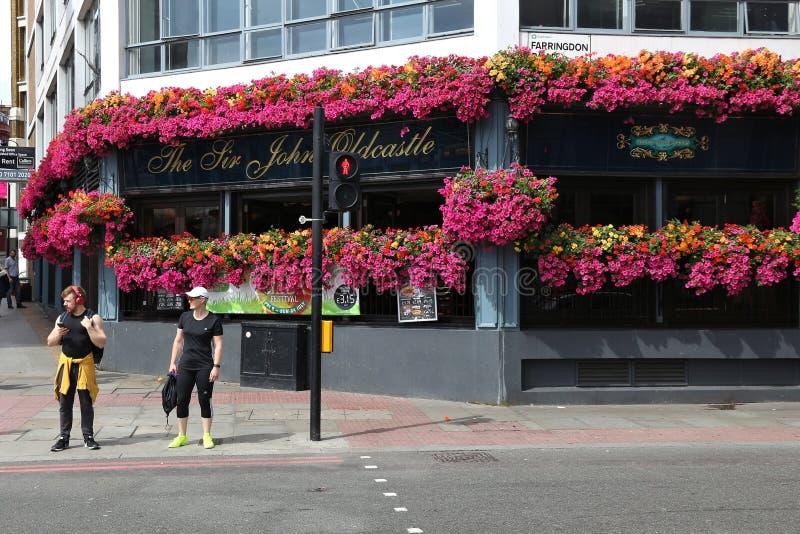 Londyński pub zdjęcie stock