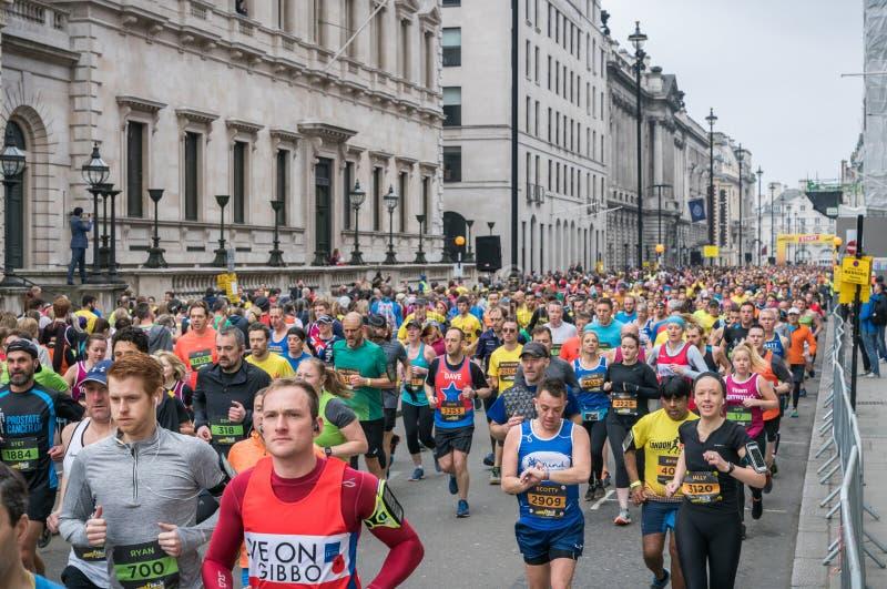 Londyński punkt zwrotny połówki maraton obraz stock