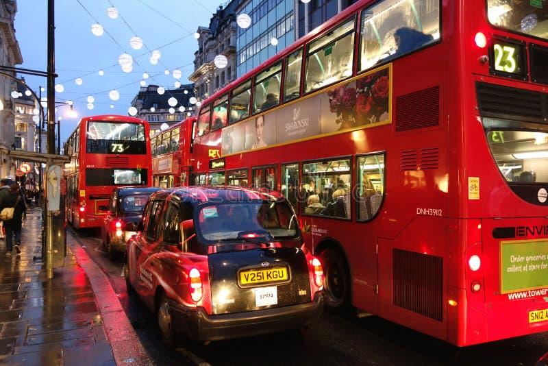 Londyński ruchu drogowego dżem obrazy royalty free