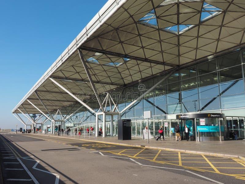 Londyński Stansted lotnisko zdjęcia royalty free
