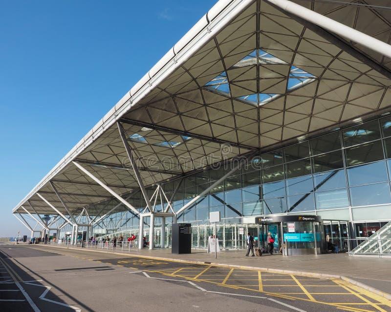 Londyński Stansted lotniskowy projekt architekt władyki normandczykiem Przybranym obraz royalty free