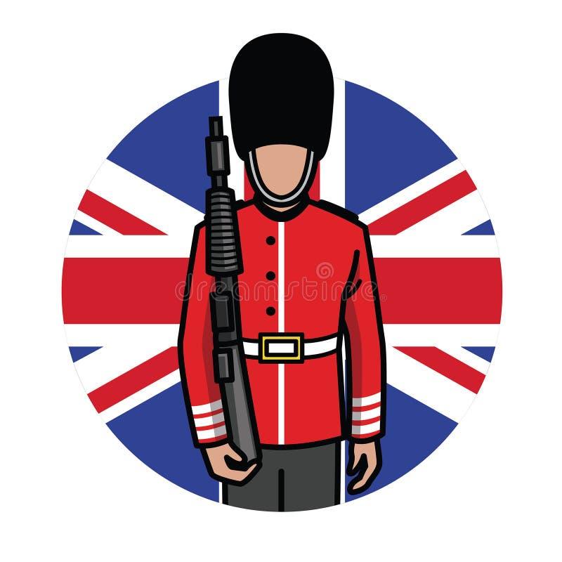 Londyński stopa strażnik ilustracji