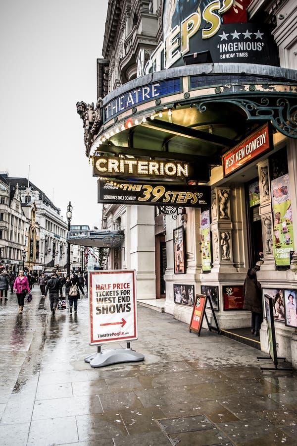 Londyński teatr zdjęcia stock