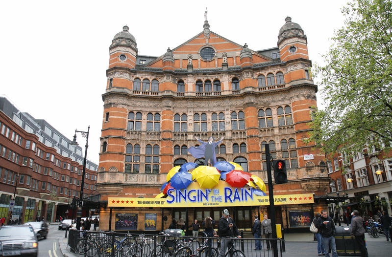 Londyński Theatre, pałac Theatre fotografia stock