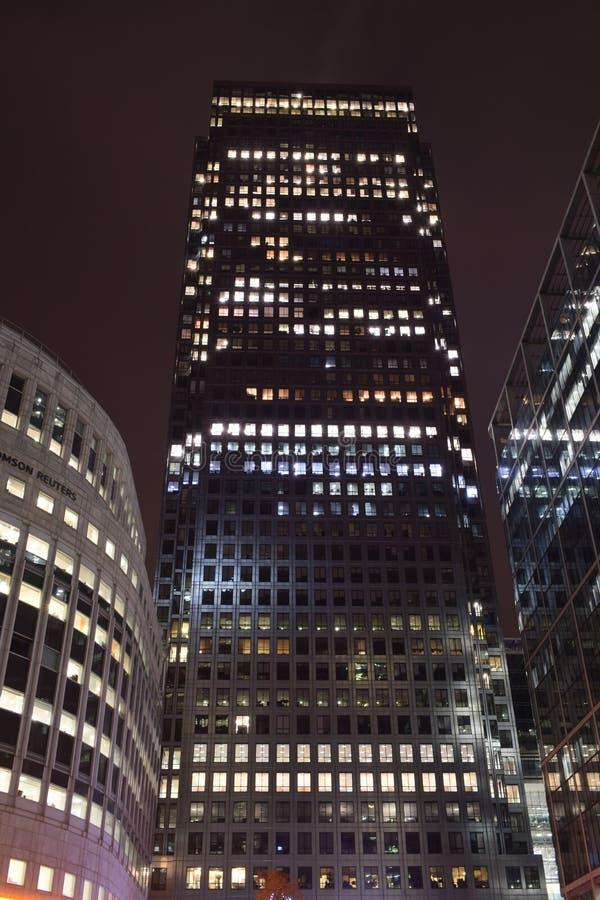Londyński UK 02/12/2017 Miasto Europa banka lidery HSBC budynek zdjęcia royalty free
