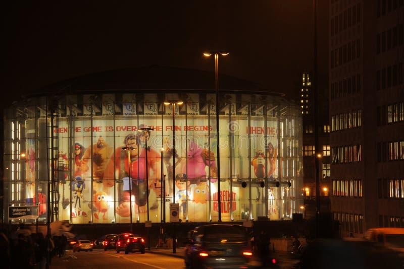 Londyński Waterloo IMAX kino zdjęcia stock