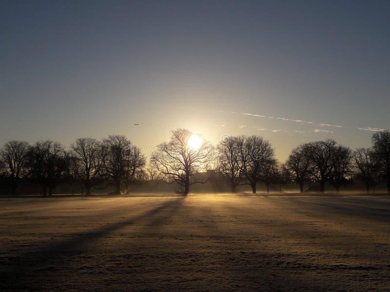 Londyński wschód słońca fotografia stock