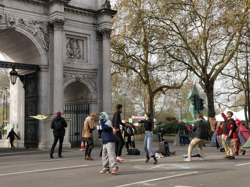 Londyński zmiana klimatu protest zdjęcie stock