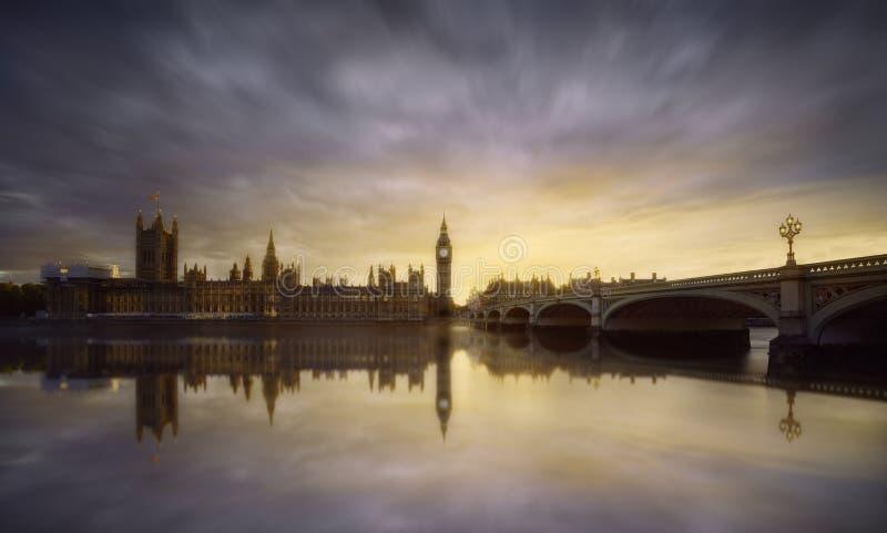 Londyński zmierzch fotografia royalty free