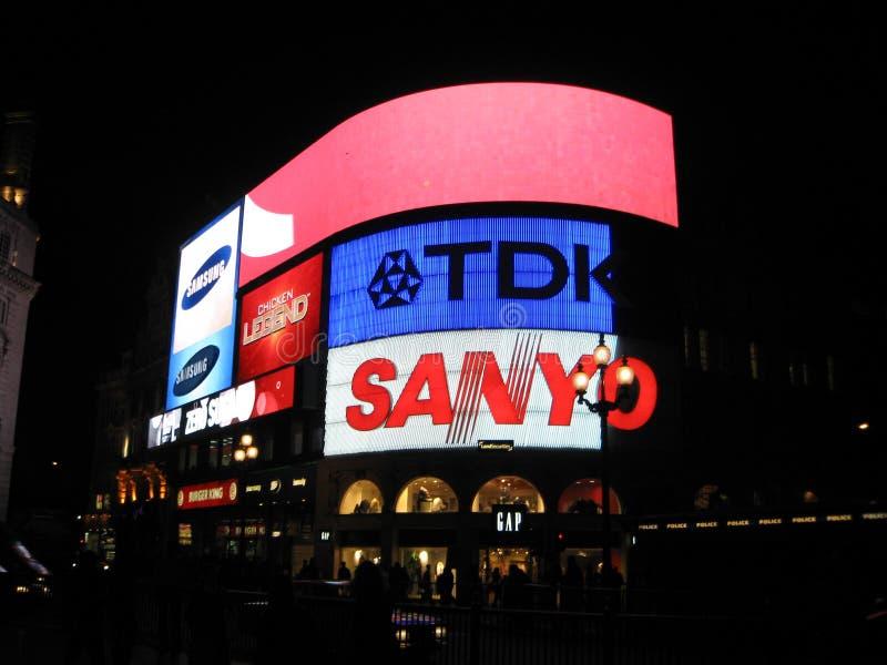 Londyńskie reklamy fotografia stock