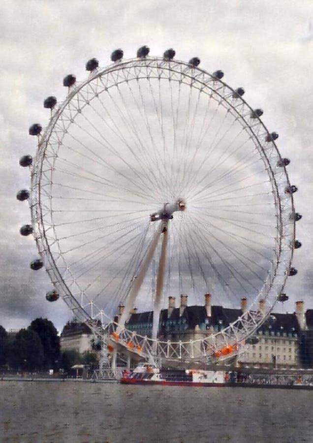 Londy?ski oka Ferris ko?o zdjęcia royalty free