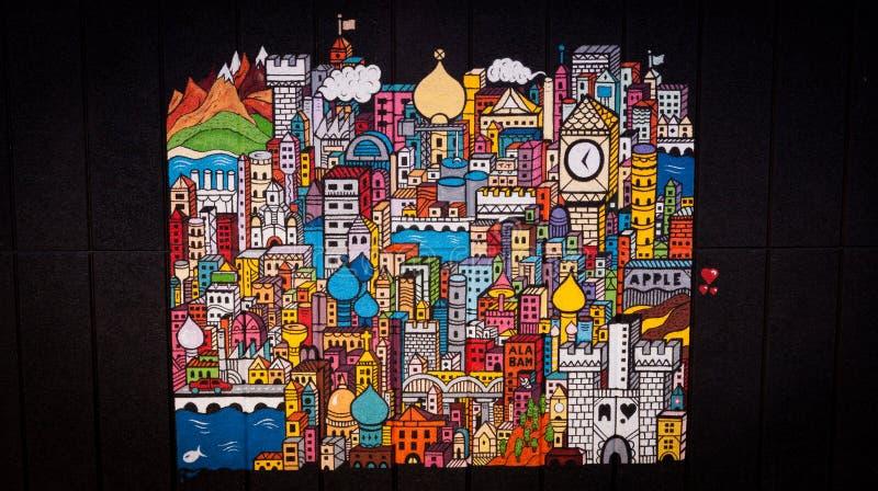 Londyn ściany sztuka obrazy stock