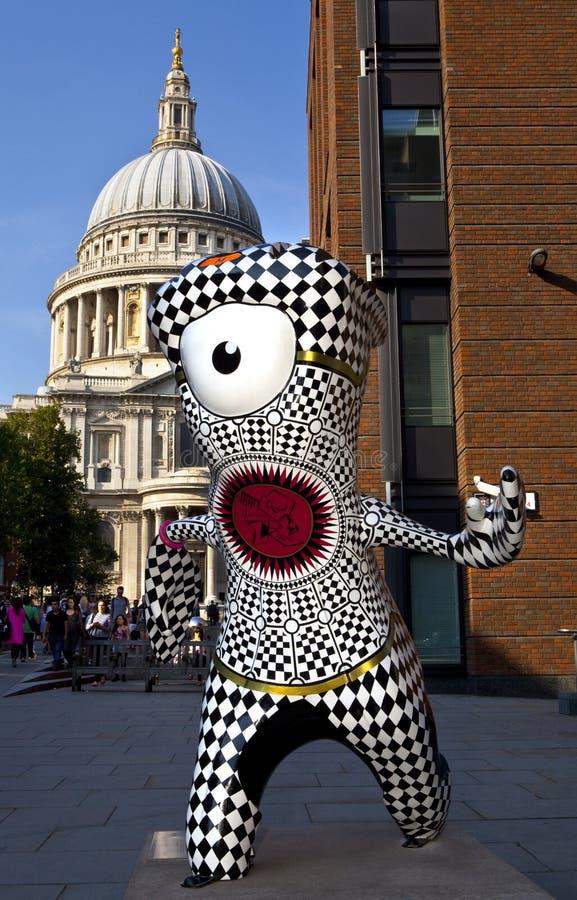 Londyn 2012 Olimpijskich maskotek obrazy royalty free