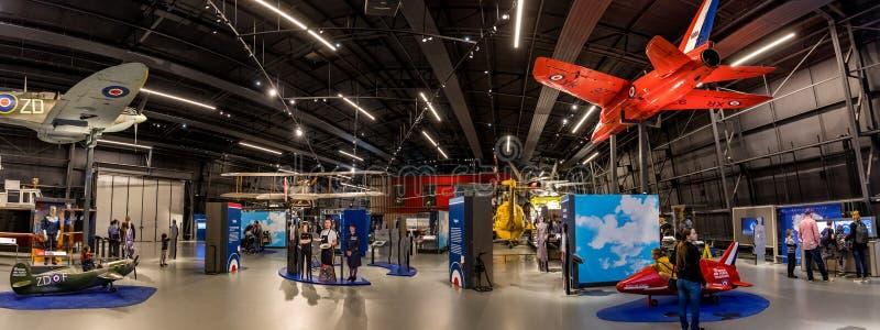 Londyn, Anglia, 28 września 2019 Muzeum RAF świętuje i upamiętnia Królewskie Siły Powietrzne za pomocą wyświetlaczy samolotów zdjęcie stock