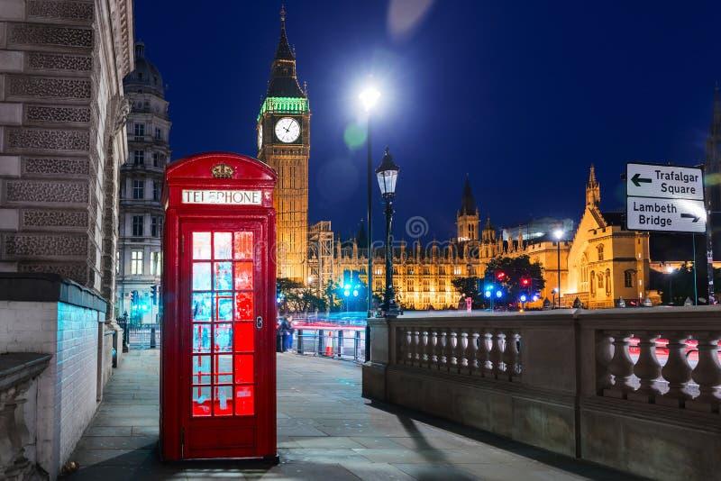 Londyn, Anglia, Zjednoczone Królestwo - Popularny turysta Big Ben fotografia royalty free