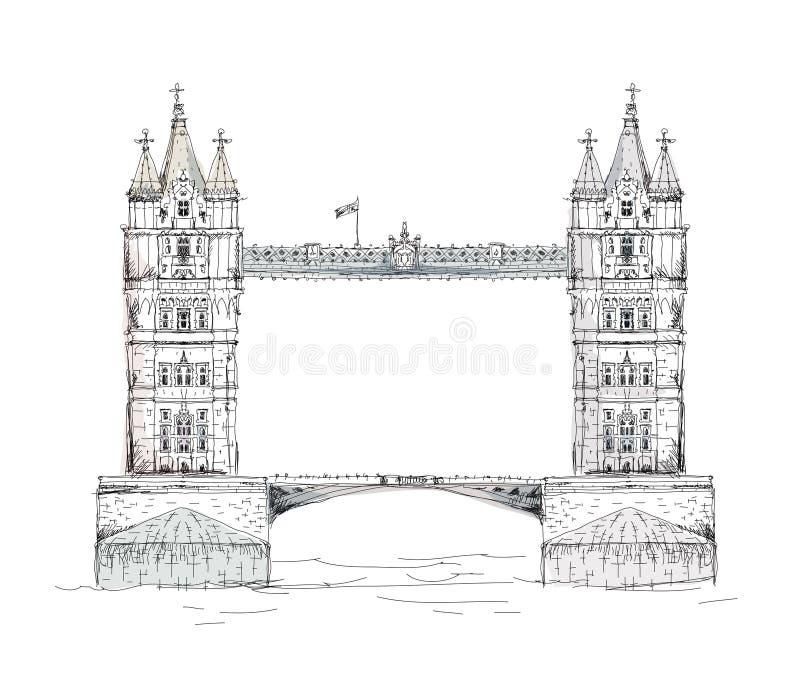 Londyn bridge1 wieży royalty ilustracja