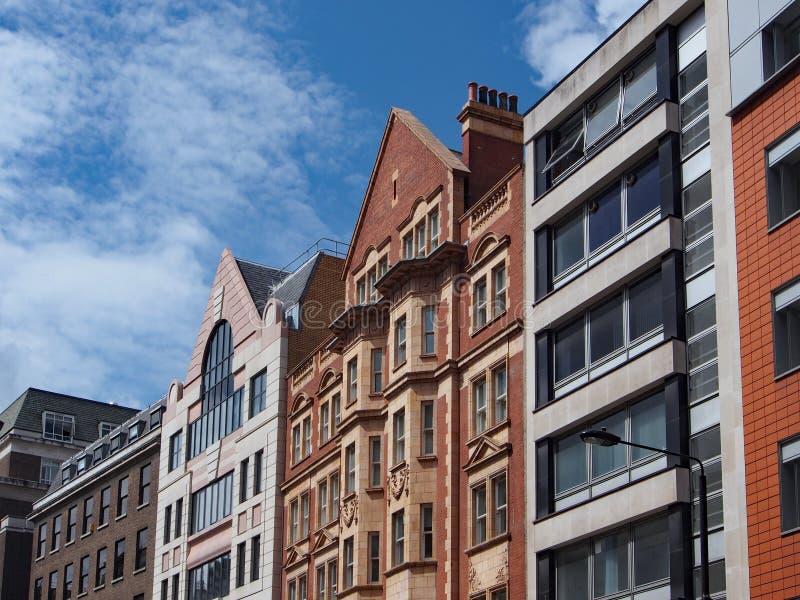 Londyn, budynek biurowy fasady obrazy royalty free