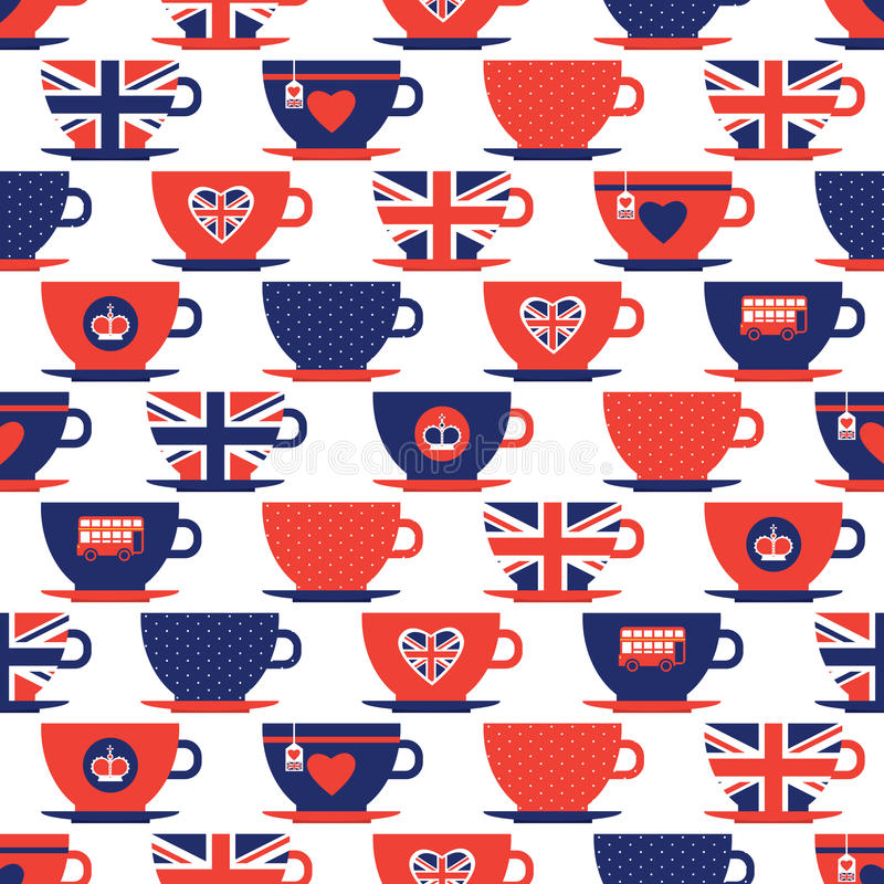 Londyn deseniowy bezszwowy ilustracji