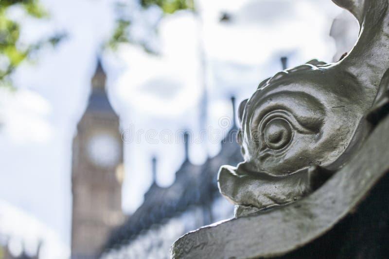 Londyn - latarnia z rybią twarzą zdjęcia royalty free