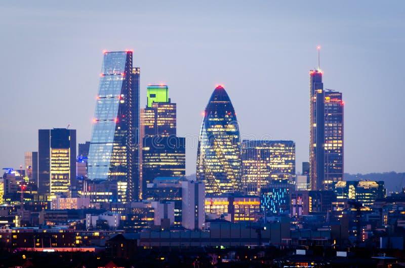 Londyn, linia horyzontu od Greenwich zdjęcie royalty free