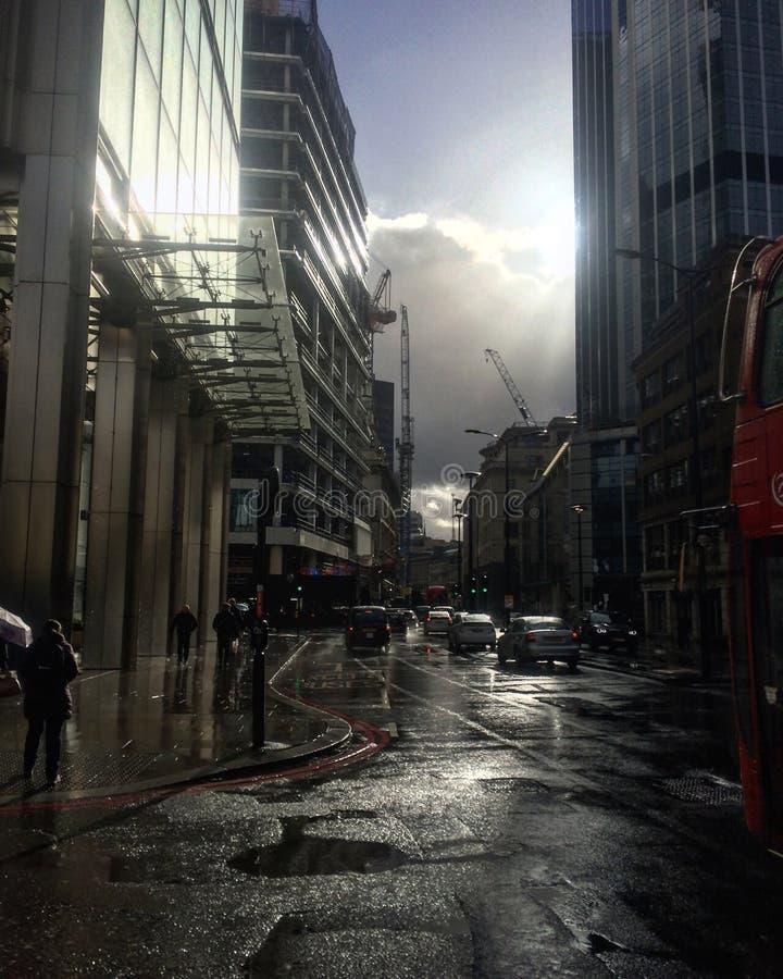 Londyn po deszczu fotografia stock