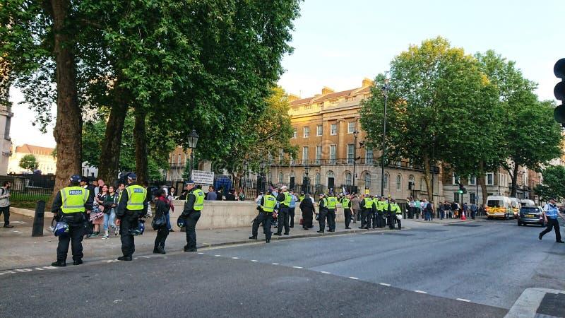 Londyn polici bariera Westminster England obraz royalty free