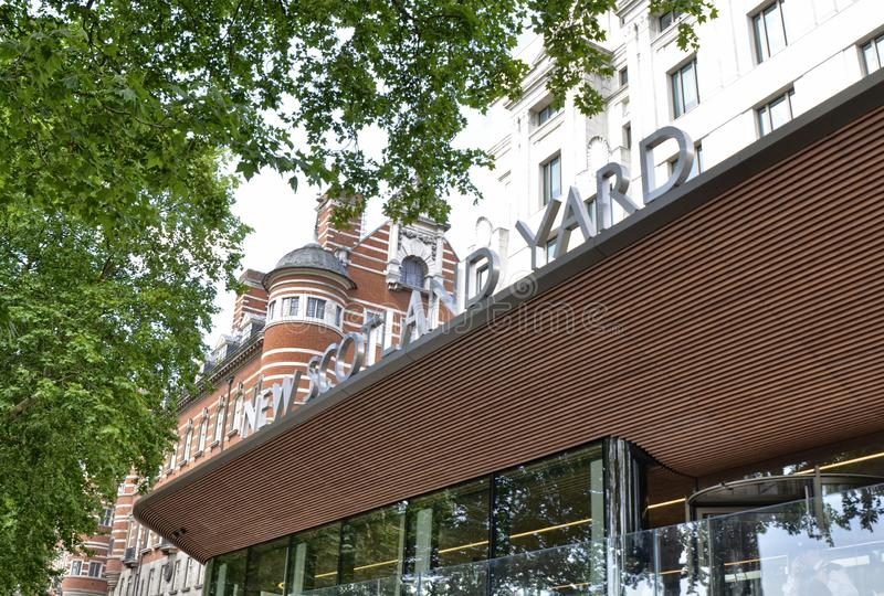 Londyn scotland yard obraz royalty free