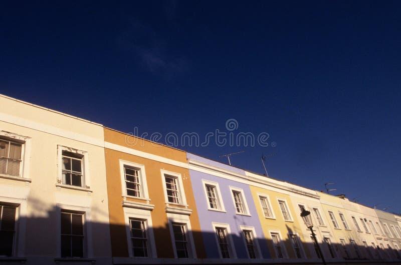 Londyn tarasował domy. zdjęcia royalty free
