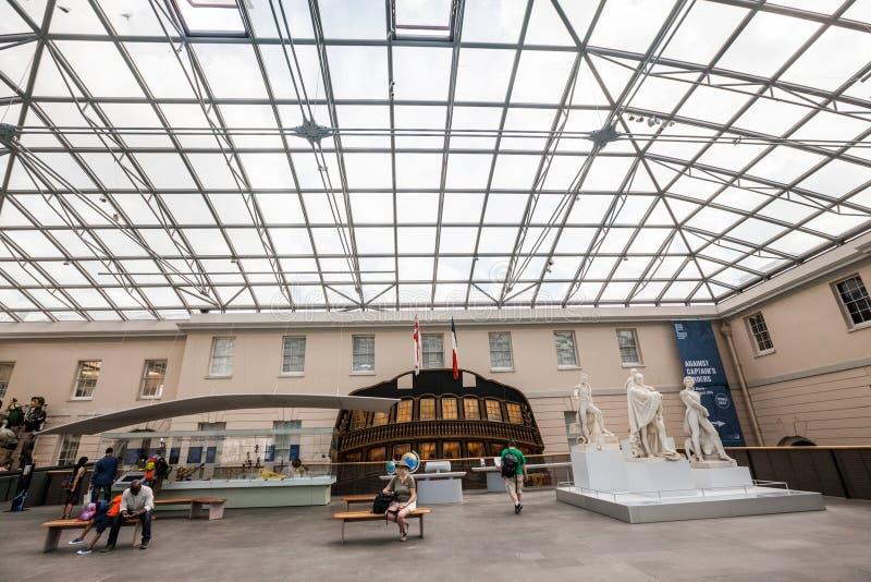 LONDYN, UK, Krajowy Morski muzeum w Greenwich, wnętrze szczegóły zdjęcia royalty free