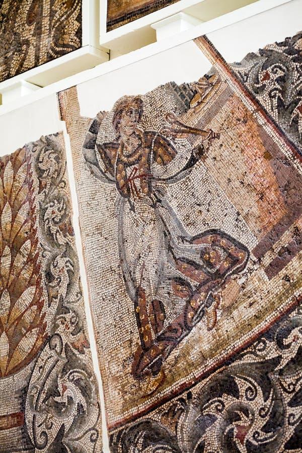 LONDYN, UK Lipiec 30, 2015: BRITISH MUSEUM, Mosais bruki od imperium rzymskiego zdjęcia stock