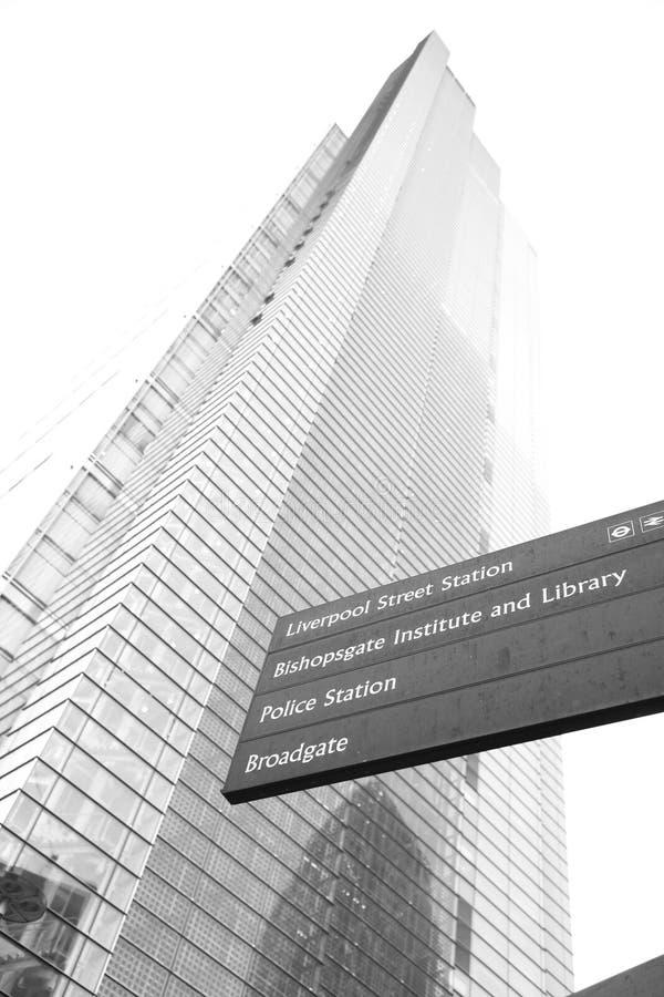 Londyński drapacz chmur, czapli wierza zdjęcie stock