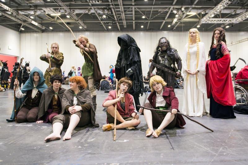 LONDYN, UK - PAŹDZIERNIK 26: Cosplayers ubierał jako charaktery od t obrazy royalty free