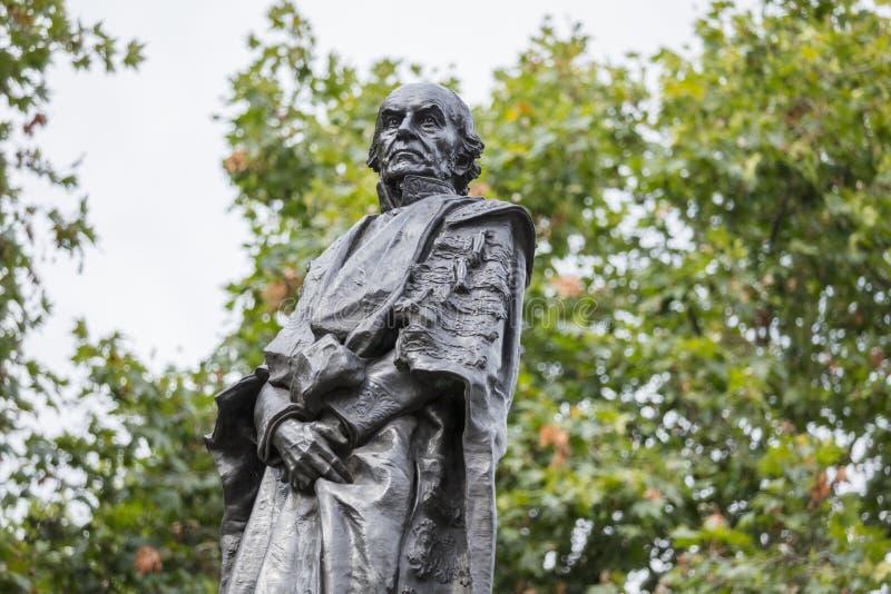 Londyn, UK, 17th 2019 Lipiec, statua Poprzedni premiera William gladstone obrazy stock