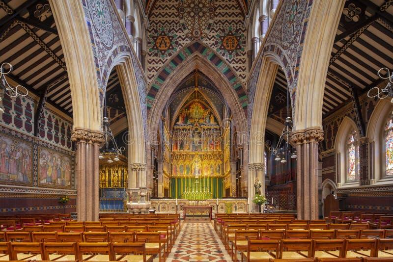 Londyn, UK, 18th 2019 Lipiec, wnętrze Wszystkie Saints Kościelni na Margaret ulicie obraz royalty free