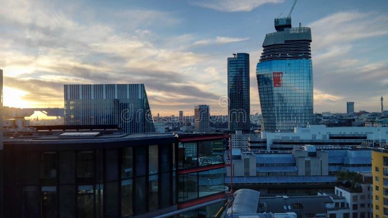 Londyn w wieczór obrazy royalty free
