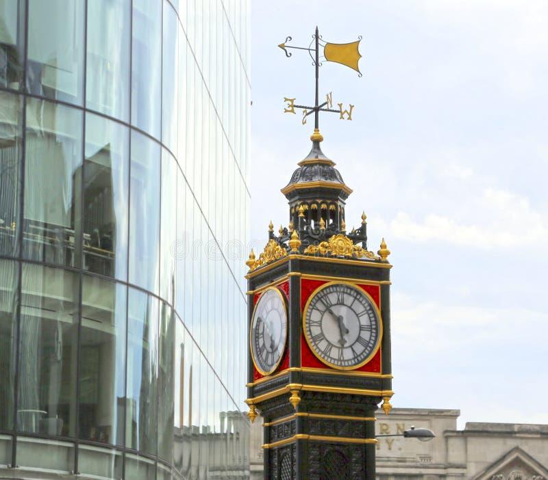 Londyn Wielki Brytania, Maj, - 22, 2016: Mały Ben Zegarowy wierza obraz royalty free