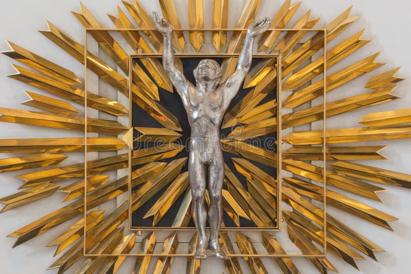 LONDYN WIELKI BRYTANIA, WRZESIEŃ, - 14, 2017: Nowożytny tabernacle w kościół St Vedast pseudonimu Przybranym fotografia royalty free