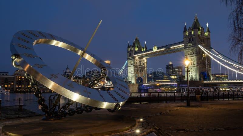 Londyn Zjednoczone Królestwo, Grudzień, - 26th, 2018: Basztowy most obrazy royalty free