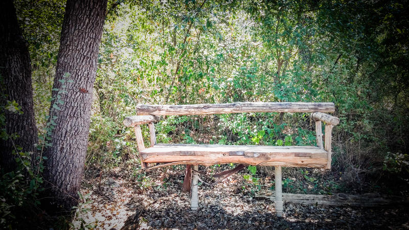 Lone Bench royalty free stock image