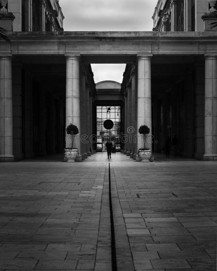 He`s walking away royalty free stock images