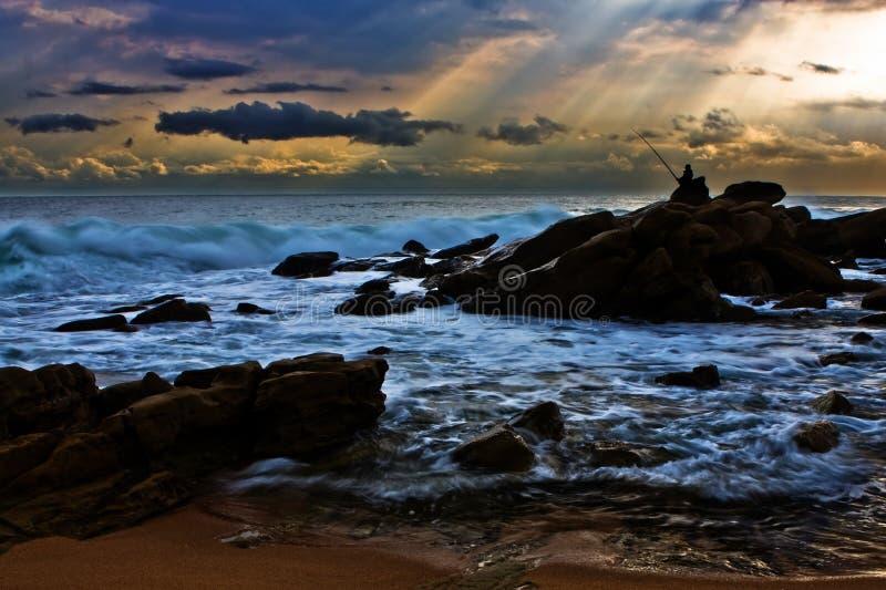 Download Lone fisherman stock photo. Image of splash, fisherman - 6786222