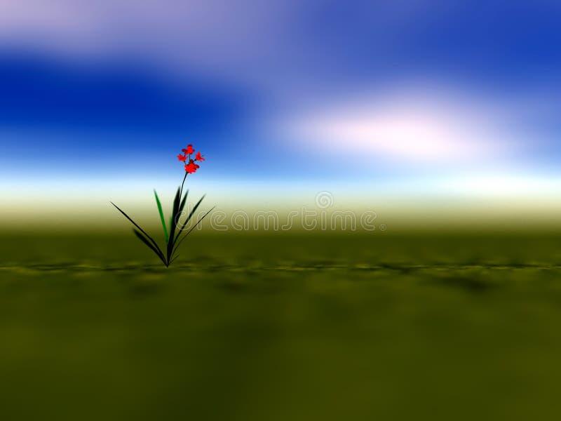 Download Lone Flower Illustration stock illustration. Image of blue - 2202487