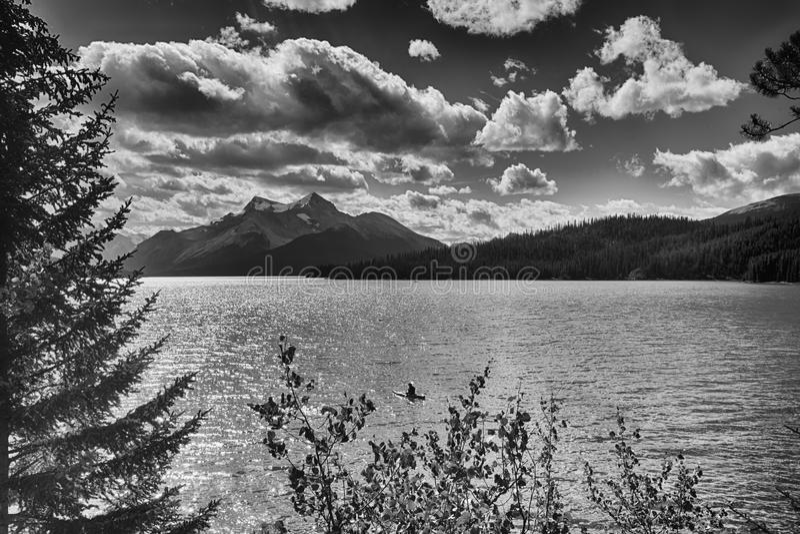 Lone Kayak in Jasper royalty free stock photography