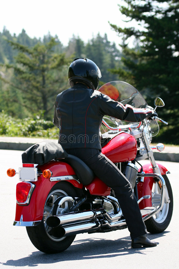 Download Lone Motorcycle Rider stock image. Image of sport, black - 6823449