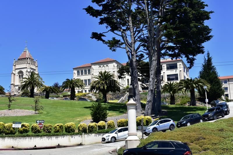 Lone Mountain College Lone Mountain Campus, 5. Lone Mountain hill is one of San Francisco` famous seven major, and historic hills. In 1854 it was the Lone stock images