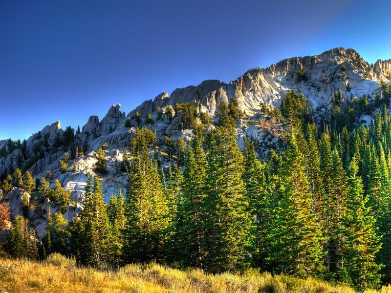 Download Lone Peak Ridge stock image. Image of forest, scenery - 16709813