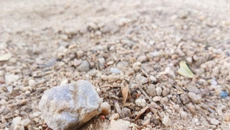 Lone pebble. Its a lone bored pebble stock photo
