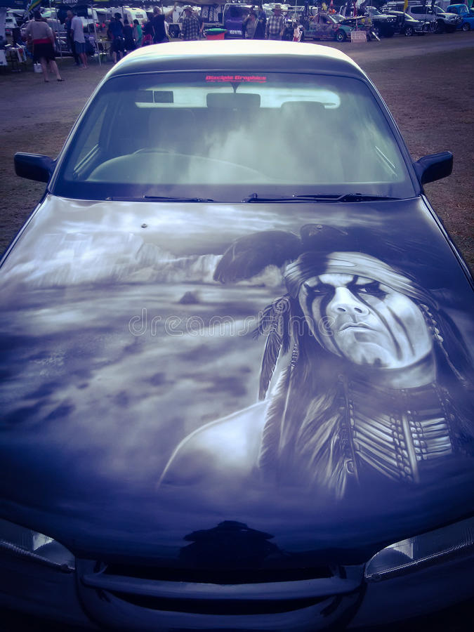 The lone ranger painted on a Australian UTE royalty free stock images